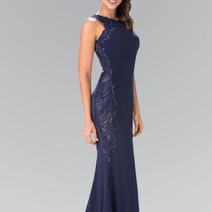 Sequined Sleeveless Long Evening Dress GL2222